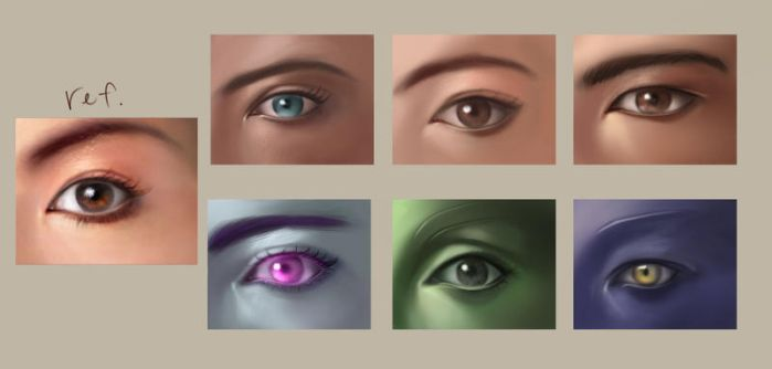 Eye Study by AvilinaChant