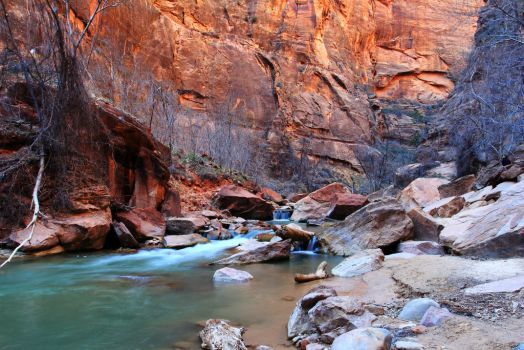 Stock: River cuts through Zion by Celem