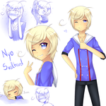 APH: Nyo!Svalbard sketches by Nordlige-Oyene