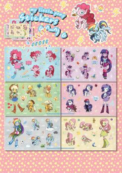 my little pony stickers by memoneo