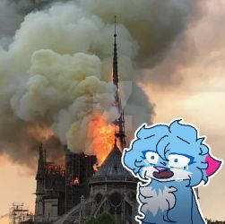 Notre Dame burned... by KamiTheHellCat
