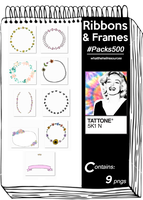 Ribbons and Frames | #Packs500 by WhatTheHellResources
