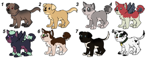 Canines Adoption OPEN by P4ndora-L