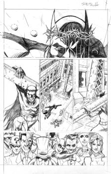 Batman Crucifixion pg. 3. by JoeRuff