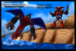 Mazinger Series -  Mikene Giraginga and Isacron by GearGades