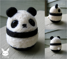 Felted Panda by xxNostalgic