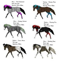 Punk Horse Point Adoptables-ALL TAKEN by Black-Heart-Always