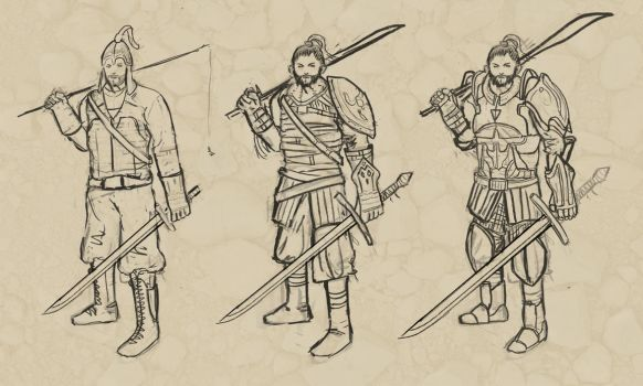 Sketches of a warrior by Artpetja
