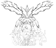 Commission:Pokemon Team Sketch by JamalC157