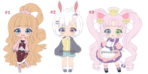 ADOPTS: Cutie Pies #1 [ Closed] by KirasElixir