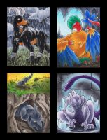 Houndoom Archeops Onix Mewtwo