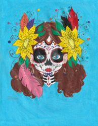 Day Of The Dead by ilovepinkhair