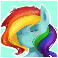 Rainbow Portrait by derpiihooves