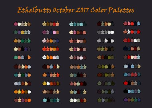 October Color Palettes 2017 by Ethelbutt