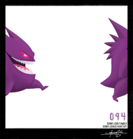 Gengar!  Pokemon One a Day! by BonnyJohn