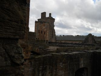 Linlithgow Palace, across the ruined precipices. by AdamCuerden