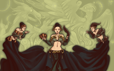 three goddesses by thanoodles