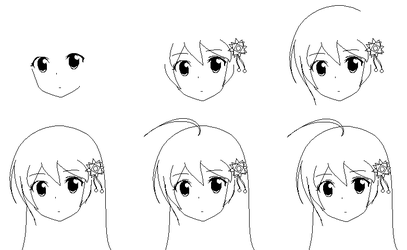 How to I draw anime girl with MsPaint by Goddreary