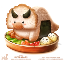 Daily Paint 1901# Riceratops by Cryptid-Creations