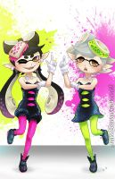Squid Sisters by sammich