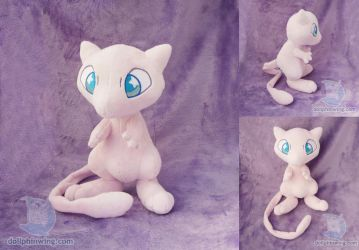 Mew Plushie (Pattern Available) by dollphinwing