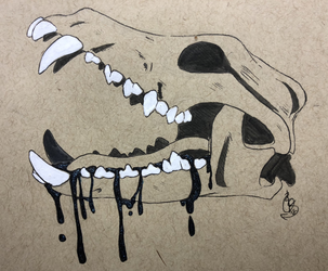 Inktober 2018 Day 6: Drooling by devilSwirl