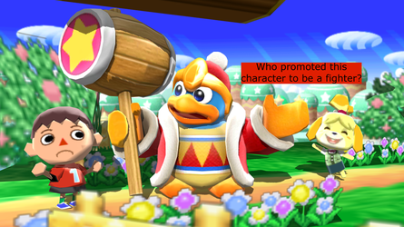 Dedede's Newcomer Comment (Isabelle) by Mario-and-Sonic-Guy