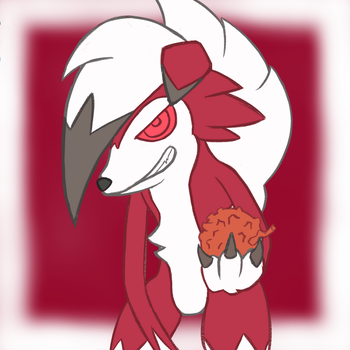 Lycanroc Holds a 'berry' by DemiViral