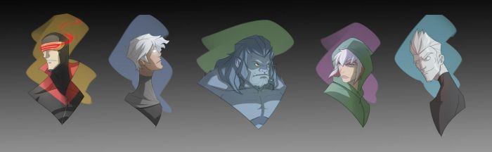 Marvel Heads: Xmen by COLOR-REAPER