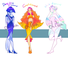 Diamonds adoptables (CLOSED 0/3 AVAILABLE) by likeocean