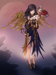 Blade and Soul commission by oxcoxa
