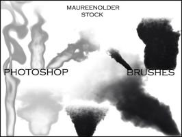STOCK PHOTOSHOP BRUSHES smokey by MaureenOlder