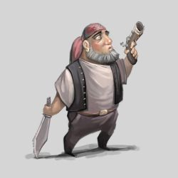 Pirate Character by Grafikwork
