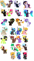 HUGE pony adopt batch ( open ) by dratini12