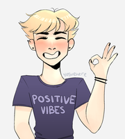 positive vibes by yosuehere