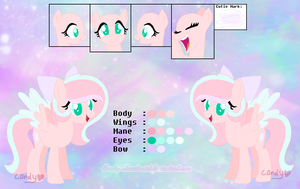 .: OC :. Pastel Dream - Refrence Sheet by Candy-Heartswirl