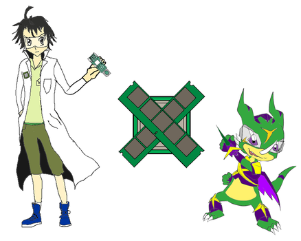 Green Systems Army-Digimon Xros Wars by FEISAR-CSY