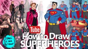 HOW TO DRAW SUPERHEROES - A YouTube Tutorial by javicandraw