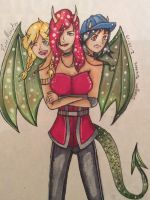 Request: Dragon Sisters by Rose-Monster12