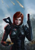 Commander Shepard by Lagoonnw