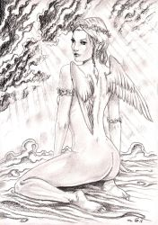 Allegory of the angel by emalterre