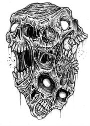 Skullage a trois by ayillustrations