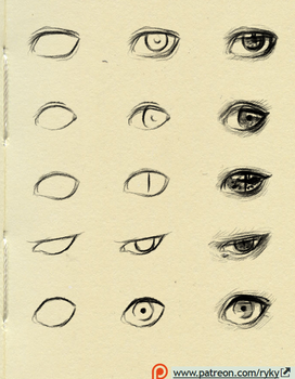 eyes reference 1 by ryky