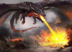 Magma Dragon 2 by conorburkeart