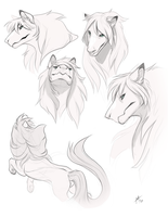 Flynn Sketches by lightningspam