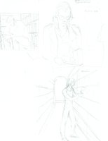 Different Library Patrons -Page Sketch-Malevolent by inzaratha