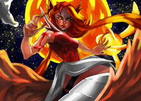 League of Legends - Blood moon Ahri (concept) by susher
