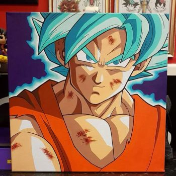 Ssj Blue Goku Painting by Hamdoggz