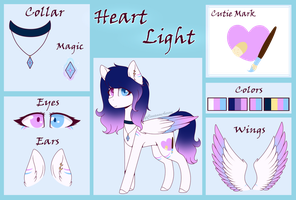 Heart Light Reference sheet by CinnamonAurora