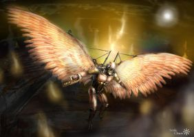 Steampunk angel of death by Smilechaos